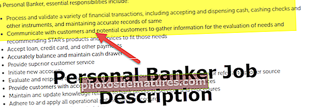 Descripció del lloc de treball de banquer personal
