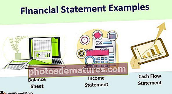 Exemples d'estats financers
