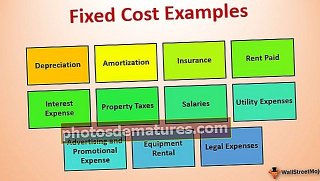 Exemples de cost fix