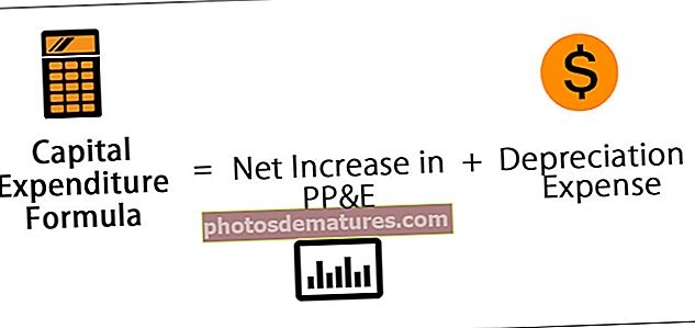 Fórmula de la despesa de capital (CAPEX)