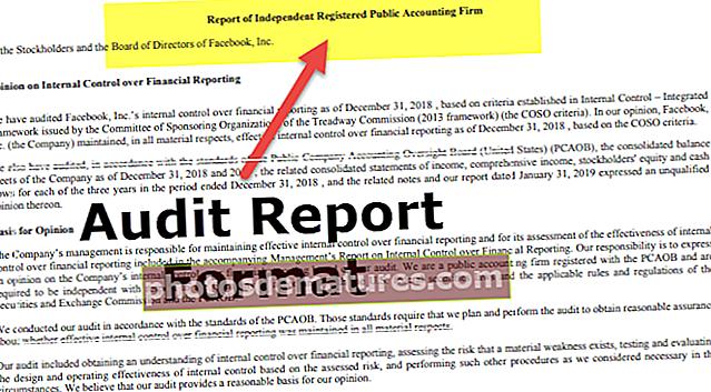Format de l'informe d'auditoria