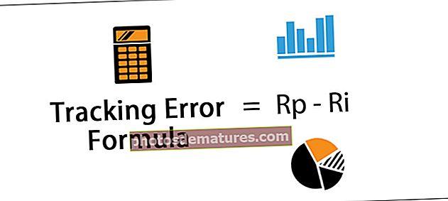 Fórmula d'error de seguiment