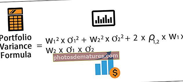 Формула варијансе портфеља