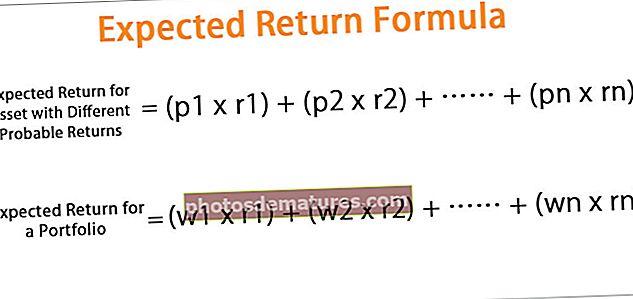 Fórmula de retorn prevista