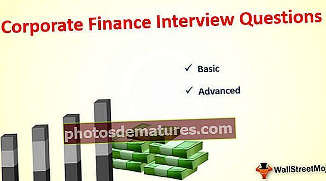Preguntes d'entrevistes de finances corporatives (amb respostes)