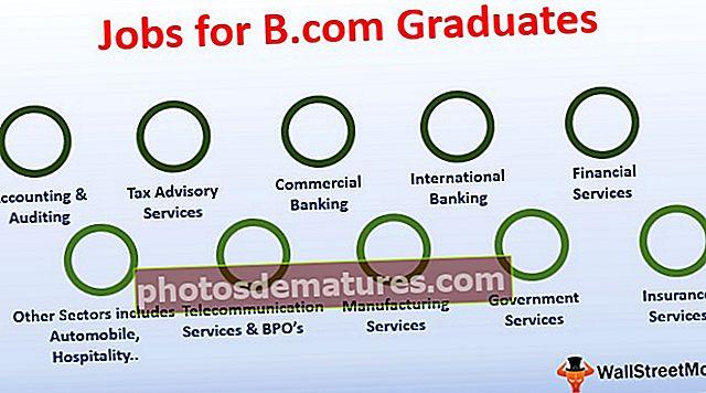 Top 10 de llocs de treball per a graduats de B.com (estudiants de primer any)