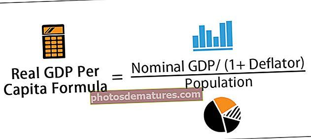 Fórmula del PIB real per càpita
