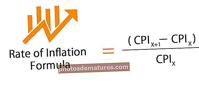 Fórmula de taxa d'inflació