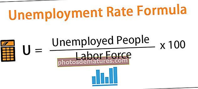 Fórmula de taxa d'atur