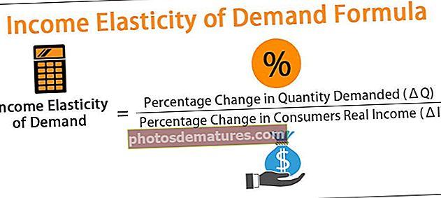 Fórmula d'elasticitat de la demanda d'ingressos