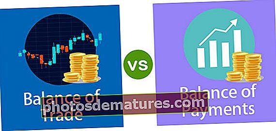 Balança de comerç vs Balança de pagaments