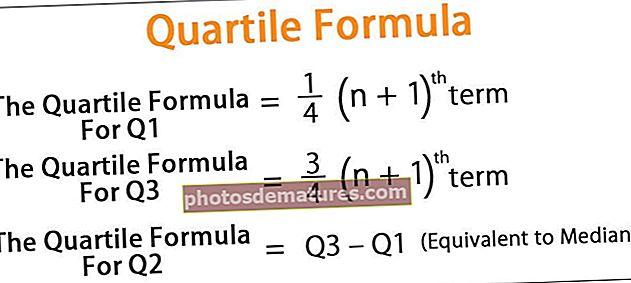 Fórmula del quartil