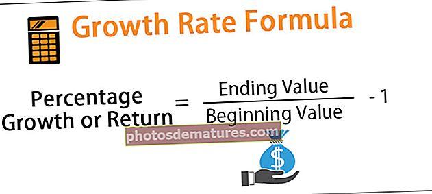 Fórmula de taxa de creixement