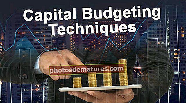 Tècniques de pressupost de capital