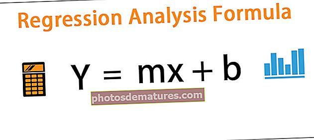 Fórmula d'anàlisi de regressió