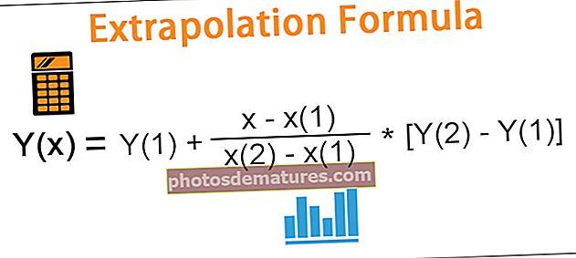Fórmula d'extrapolació