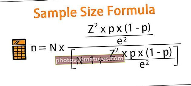 Fórmula de la mida de la mostra