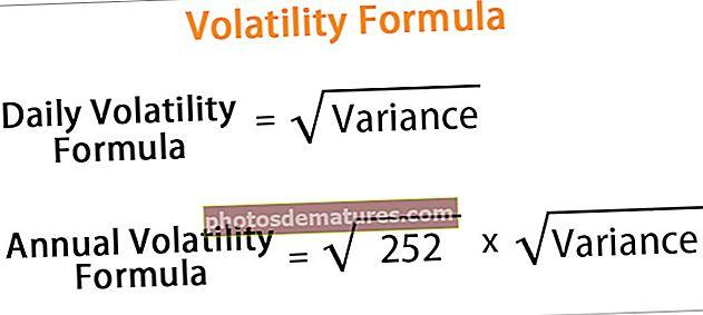 Fórmula de volatilitat