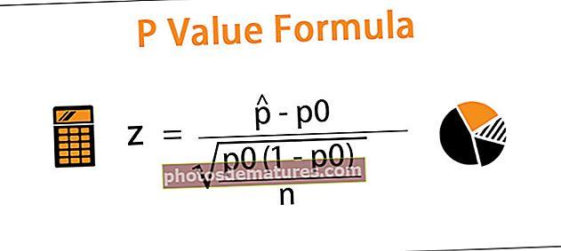 Fórmula del valor P