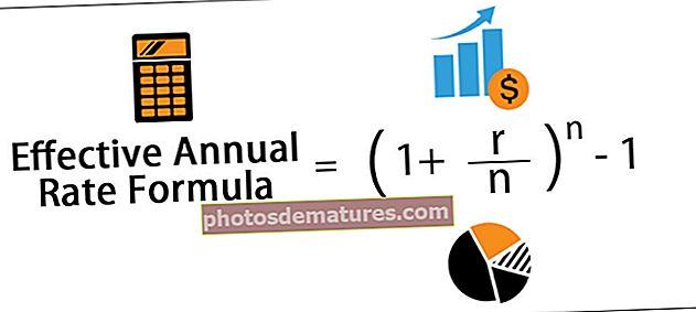 Fórmula de taxa anual efectiva