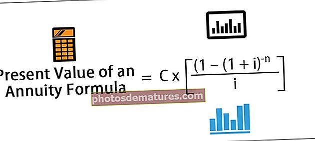 Valor actual d'una fórmula de renda