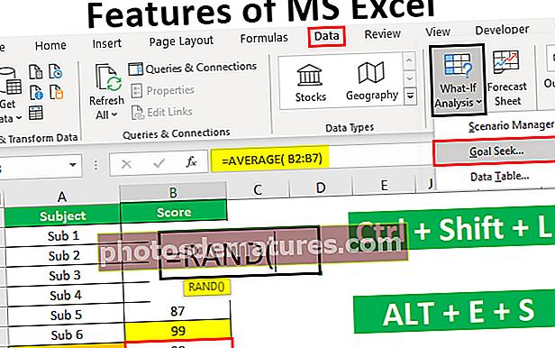 Карактеристике МС Екцел-а
