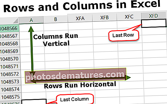 Files i columnes a Excel