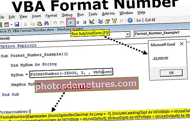 Número de format VBA