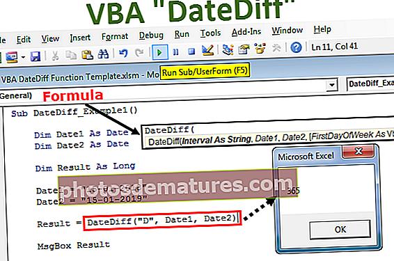 Funció VBA DateDiff