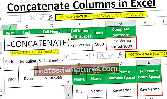 Concatenar columnes d'Excel