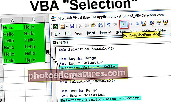 Selecció VBA
