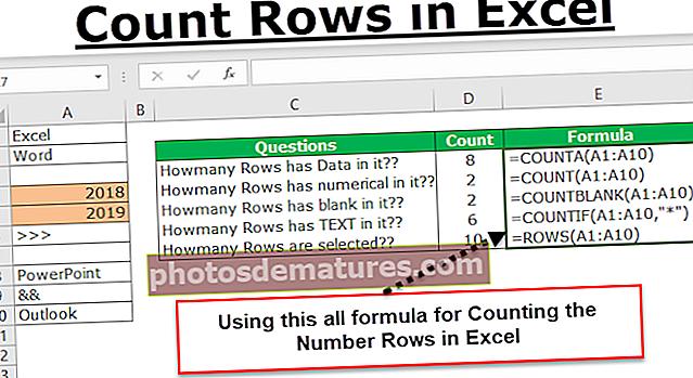 Comptar files a Excel