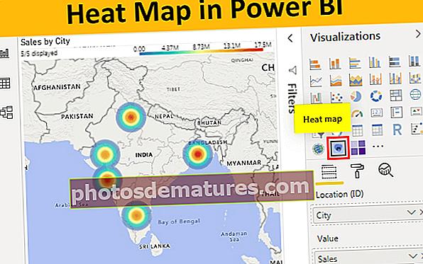 Мапа топлоте у програму Повер БИ