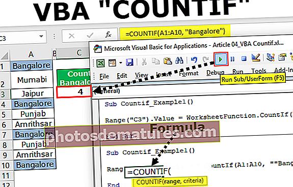 VBA COUNTIF