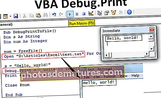 Impressió de depuració VBA
