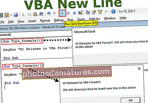 VBA New Line