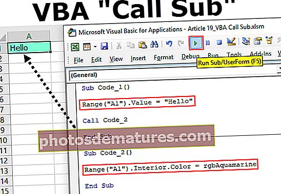 Subvocatòria de trucades VBA