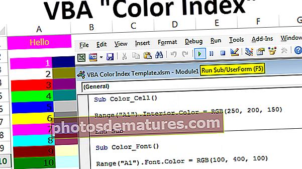 Índex de colors VBA