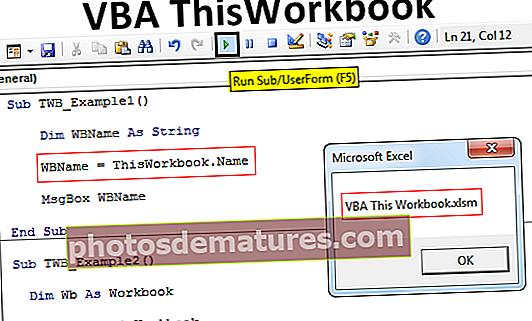 VBA ThisWorkbook