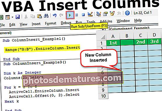 Insereix columnes VBA