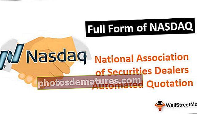 Formulari complet de NASDAQ