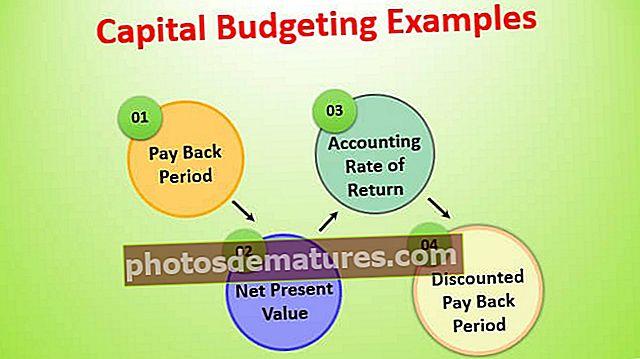 Exemples de pressupostos de capital