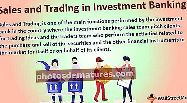 Vendes i comerç en banca d'inversió