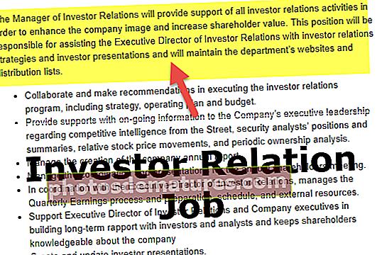 Опис посла за односе са инвеститорима