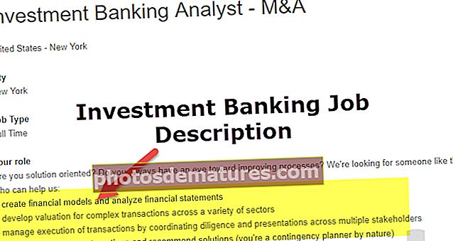 Опис посла инвестиционог банкарства