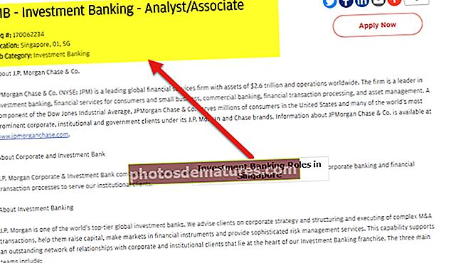 Banca d'inversions a Singapur | Llista de bancs principals | Salari | Treballs