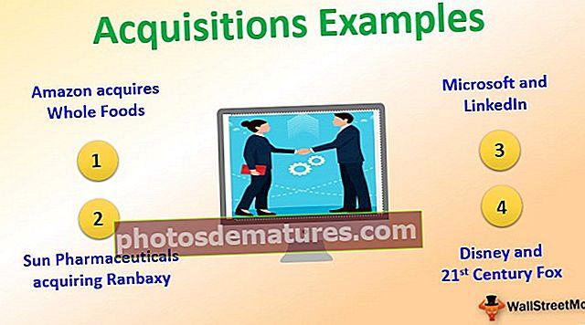 Exemples d'adquisicions