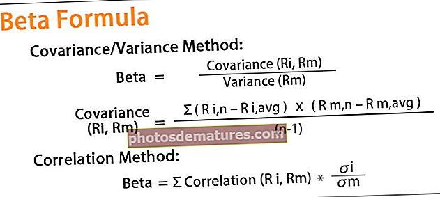 Fórmula beta