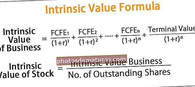 Fórmula del valor intrínsec