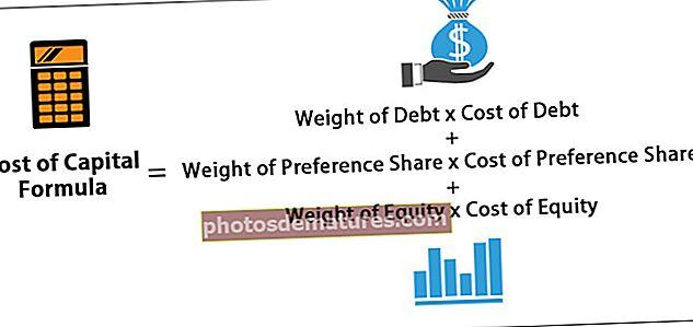 Cost de la fórmula del capital